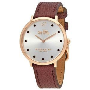 Coach 14502694 Womens Slim Easton Burgundy Watch
